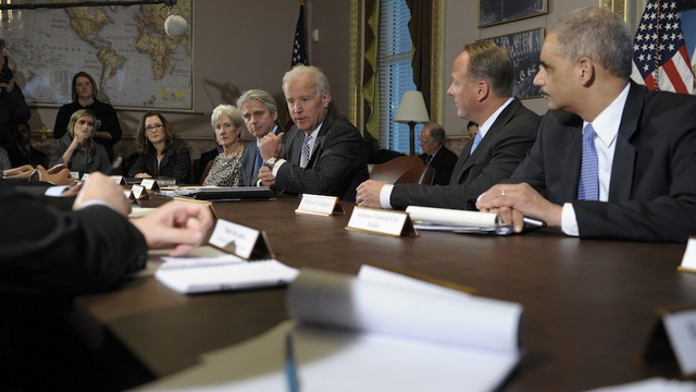Joe Biden Sat Down With Gaming's Leaders Today, And One Of Them Brought A Copy of Blastman III