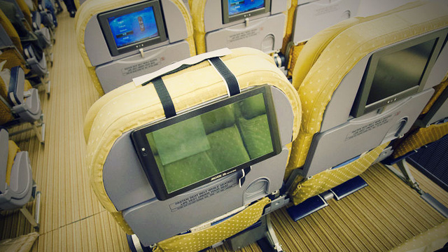 Click here to read Mount Your Tablet to the Back of an Airplane Seat with Velcro