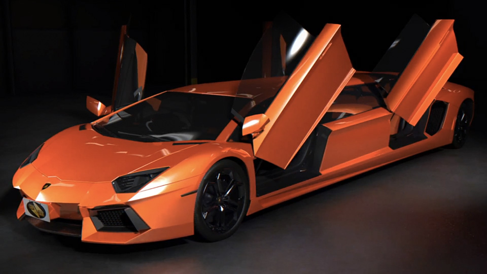 A British luxury car rental company is looking to make a bigger name for itself by creating what could be the world's first Lamborghini Aventador stretch limo.