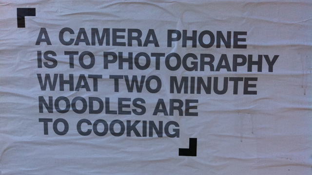 noodles and a camera