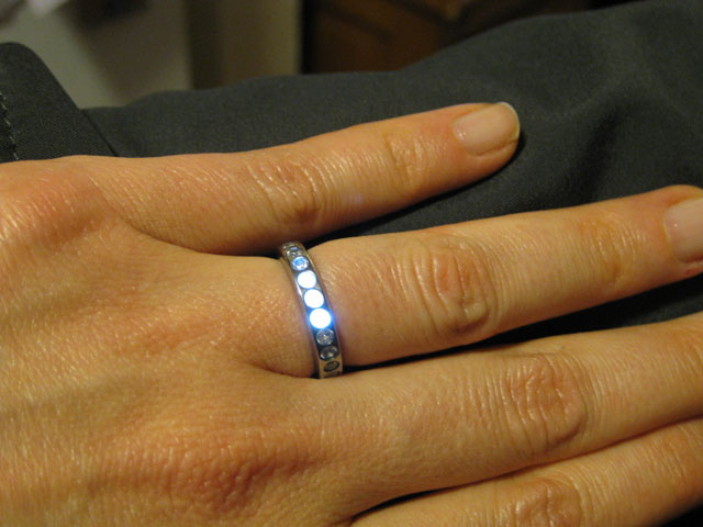 Man builds induction-powered LED engagement ring, wins at everything
