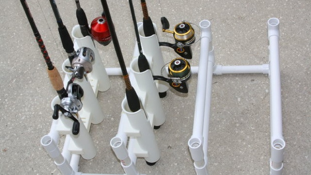 Store Multiple Fishing Rods with a DIY PVC Organizer