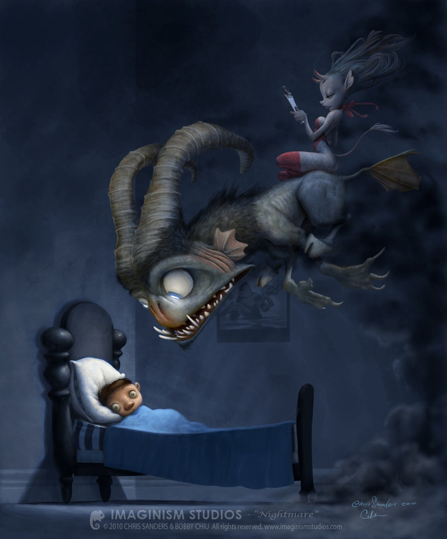 Concept Art Writing Prompt: The Nightmare with a Clipboard