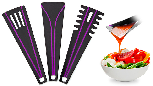 Flexible Folding Flat Kitchen Utensils That Do More Than Just Scrape