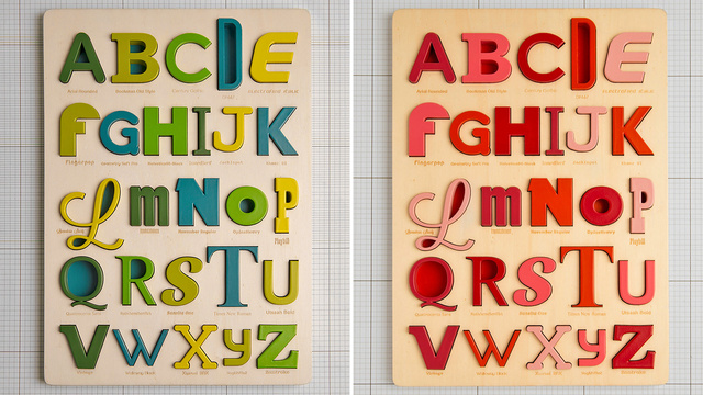 Gorgeous Typography Puzzles Will Teach Kids the Dangers of Comic Sans