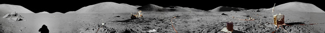 First high quality moon panorama since the Apollo 17 in 1972