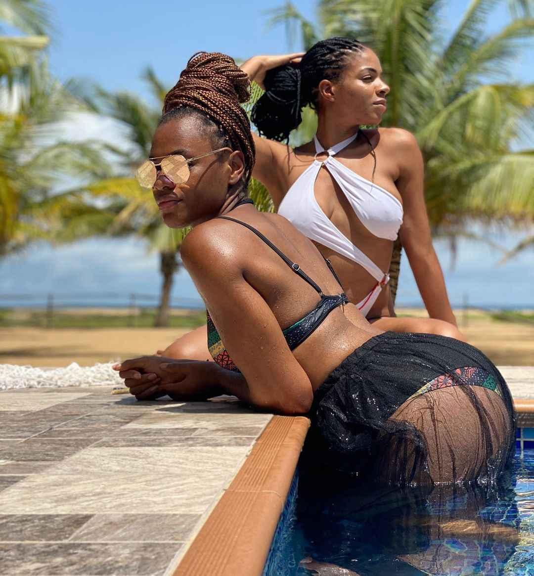 Lesbian Alert! Ex BBNaija Stars Venita & Jackye Poolside Photos Sparks Controversy 3