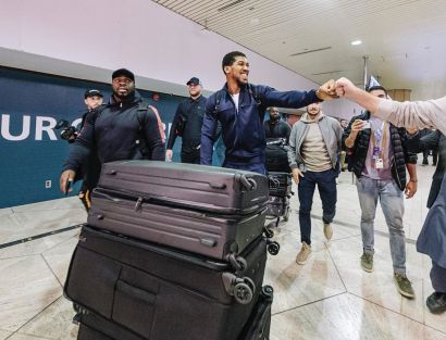 Anthony Joshua Arrives In Saudi Arabia Ahead Of His Fight With Andy Ruiz :Video