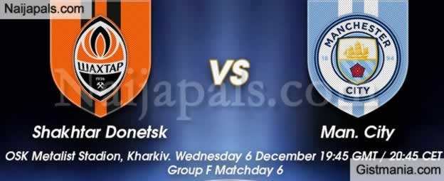 Manchester City Premier League Shakhtar Donetsk Champions Group