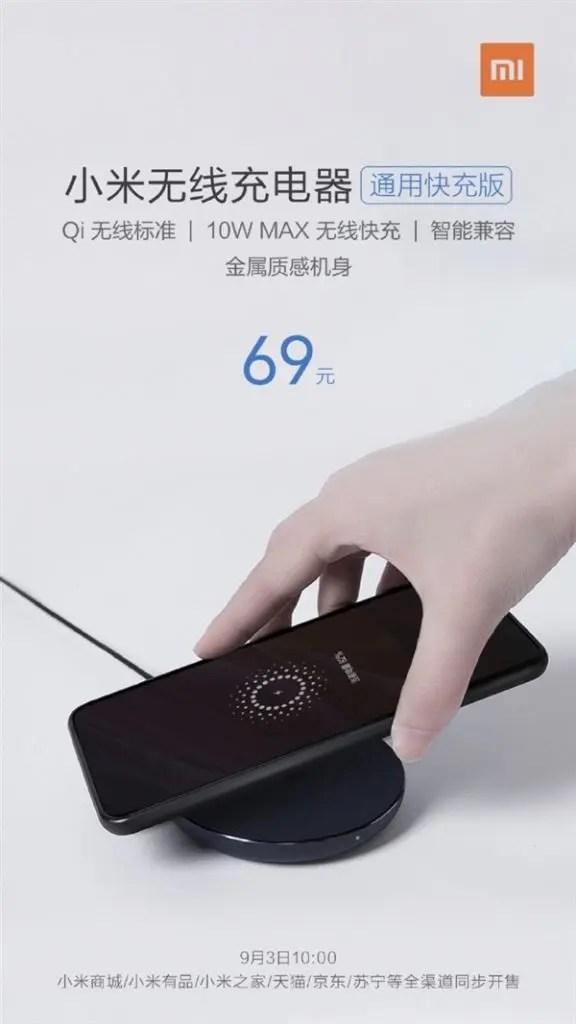Carregador sem fio Xiaomi 10W Universal Fast Charge lançado por 69 Yuan (US $ 11) 2