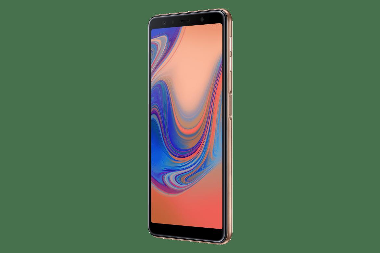Samsung Galaxy A7 (2018) com sensor de impressão digital montado lateralmente, display infinito, câmaras traseiras triplas é oficial 3