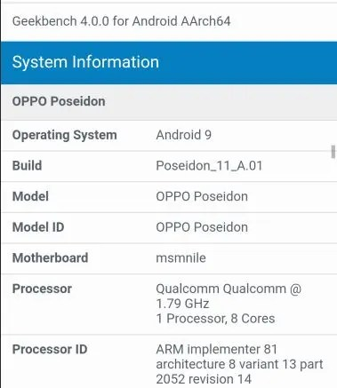 """OPPO Poseidon with SD 855 discover a Geekbench database 4 """"width ="""" 379 """"height ="""" 437 """"data-attachment-id ="""" 219806 """"data permalink ="""" https://www.gizchina.com/2019/ 01/13 / oppo-poseidon-with-sd-855-spotted-on-geekbench database / oppo-poseidon / """"data-orig-file ="""" https://i2.wp.com/img.gizchina.com/ 2019/01 / OPPO-POSEIDON.jpeg? Resize = 379% 2C437 & ssl = 1 """"date -orig-size ="""" 379,437 """"data-comments-opened ="""" 1 """"data-image-meta ="""" data-image-title = """" OPPO POSEIDON """""""" https://img.gizchina.com/2019/01/OPPO-POSEIDON-260x300.jpeg """"data-large-file ="""" https://i2.wp.com/img.gizchina.com/2019 / 01 / OPPO-POSEIDON.jpeg? Resize = 379% 2C437 & ssl = 1 """"date-recalc-dims ="""" 1"""