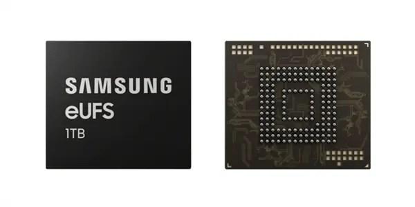 Versão de topo Samsung Galaxy S10 com memória flash de 1TB eUFS 2.1 2