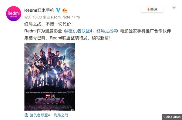 Redmi faz parceria com a Marvel para promover Endgame, Avengers. Será o Snapdragon 855 de que estávamos à espera? 3