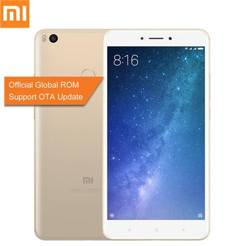 Xiaomi Mi Max 2 6.44 Inch 5300mAh Smartphone FHD 4GB 64GB Snapdragon 625 Octa Core 12.0MP Cam Android 7.1 Metal Body QC3.0 IR Remote Control Global ROM - Gold