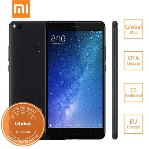 Xiaomi Mi Max 2 6.44 Inch 5300mAh Smartphone FHD 4GB 64GB Snapdragon 625 Octa Core 12.0MP Cam Android 7.1 Metal Body QC3.0 IR Remote Control Global Version - Black