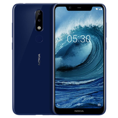 Global ROM Nokia X5 5.86 Inch 4GB 64GB Smartphone Blue