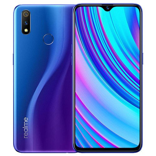 Realme X Lite 6.3 Inch 4G LTE Smartphone Snapdragon 710 4GB 64GB 16.0MP + 5.0MP Dual Rear Cameras Android 9 Touch ID Fast Charging - Blue