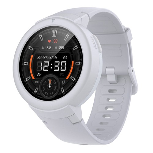 AMAZFIT Xiaomi Huami Verge Lite Smartwatch 20 Days Battery Life 1.3 Inch AMOLED Screen Built-in GPS Heart Rate Monitor Global Version - White