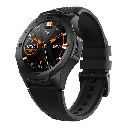 "Ticwatch S2 Sports Smartwatch Wear OS by Google 1.39"" AMOLED Display 5ATM Water Resistant MIL-STD-810G Built-in GPS 24/7 Hours Heart Rate Monitor - Black"
