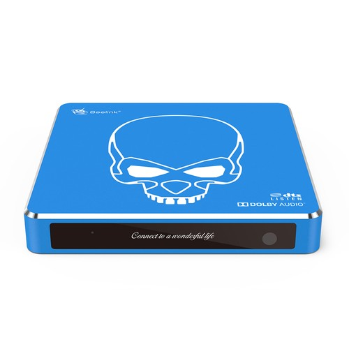 Beelink GT-King Pro Amlogic S922X-H Android 9.0 Dual System Hi-Fi Lossless Sound 4K TV Box 4GB/64GB ROM Dolby DTS Google Assistant Voice Remote Control Bluetooth WiFi6 1000M LAN USB3.0