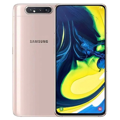 Samsung Galaxy A80 CN Version 4G Smartphone 6.7 Inch Snapdragon 730G 8GB 128GB 48.0MP+8.0MP+3D Depth Camera Triple Rear Cameras NFC Fingerprint ID Dual SIM Android 9.0 - Rose Gold
