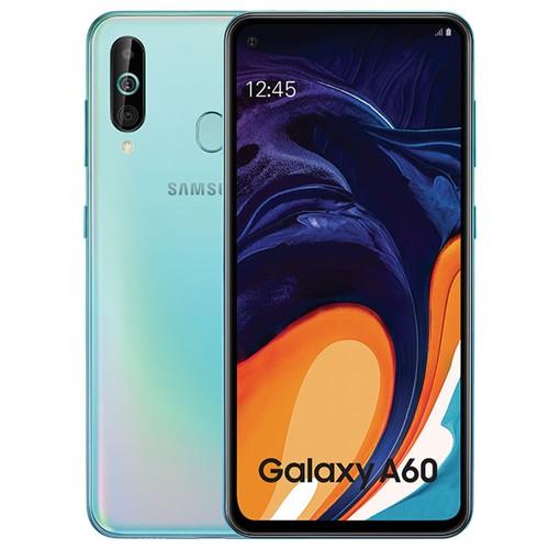 Samsung Galaxy A60 4G LTE Smartphone 6.3 Inch Snapdragon 675G 6GB 64GB 32.0MP+8.0MP+5.0MP Triple Rear Cameras Fingerprint ID Dual SIM Android 9.0 - Shallow Blue