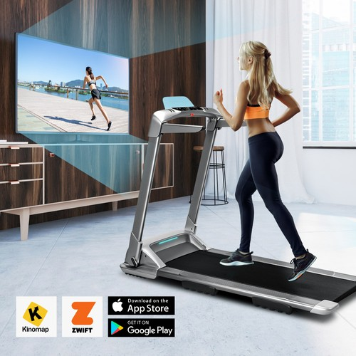 XQIAO OVICX Q2S Smart Folding Walking Running Machine Ultra-Thin Treadmill for Workout, Fitness Training Gym Equipment, Exercise Indoor & Outdoor With Smart Deceleration, APP Control, LED Display From Xiaomi Youpin - EU Version