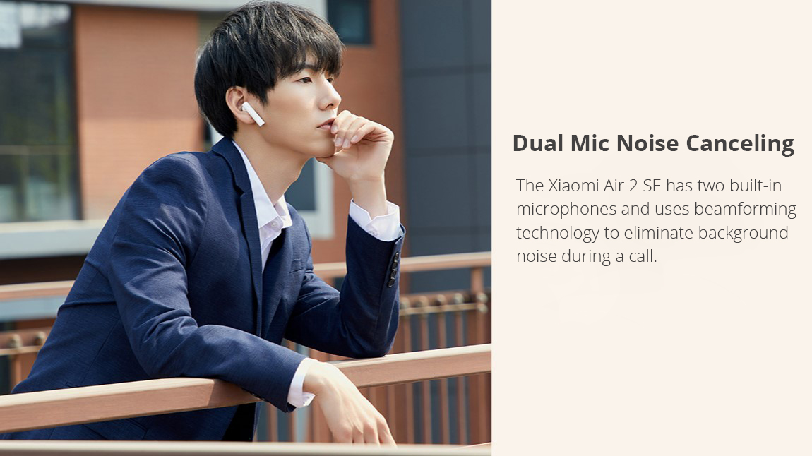 Xiaomi Air 2SE Bluetooth 5.0 TWS Earphones 14.2mm Dynamic Drivers Pop UP Pairing Independent Use