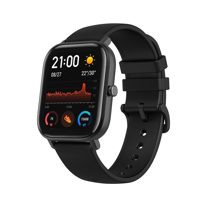 AMAZFIT GTS Smart Sports Watch 1.65 inch Retina Display Modular Dial 5ATM GPS Metal Body Global Version - Black