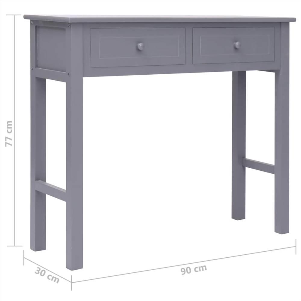 console table grey 90x30x77 cm wood