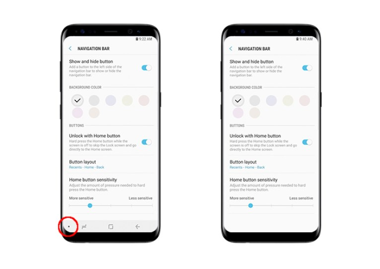 Image result for Customize Navigation Bar of the Samsung Galaxy S8 and S8 Plus