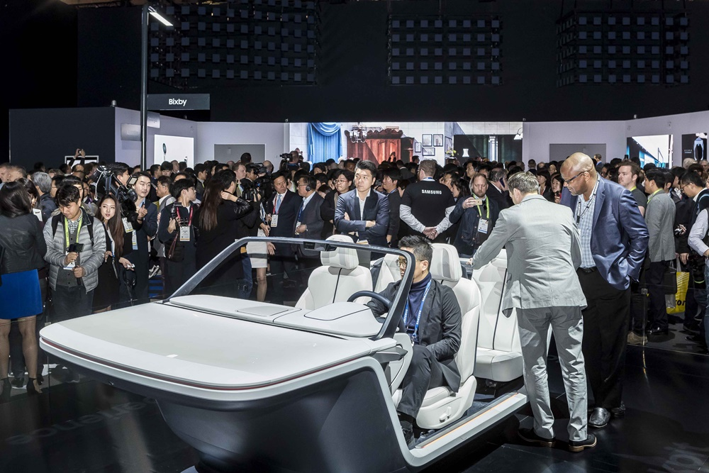 Samsung's Digital Cockput was one of the biggest draws in Samsung City at CES 2019