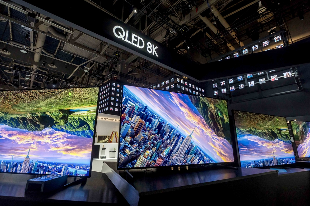 Samsung's QLED 8K displayed at CES 2019