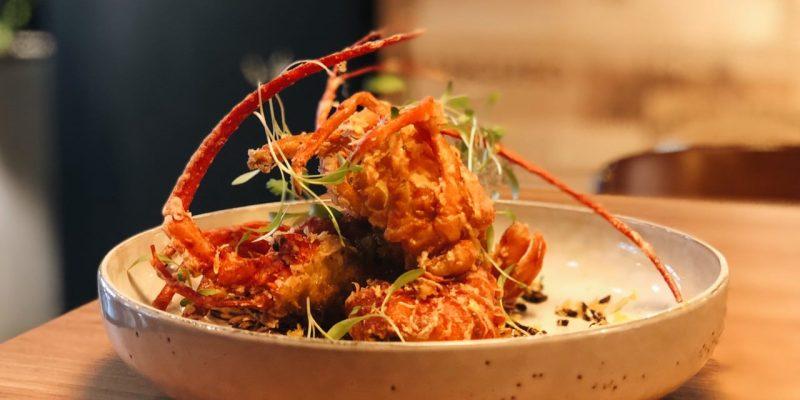 台北信義區餐酒館 》Chateau Zoe 酒窖餐廳   酥炸軟殼龍蝦餐