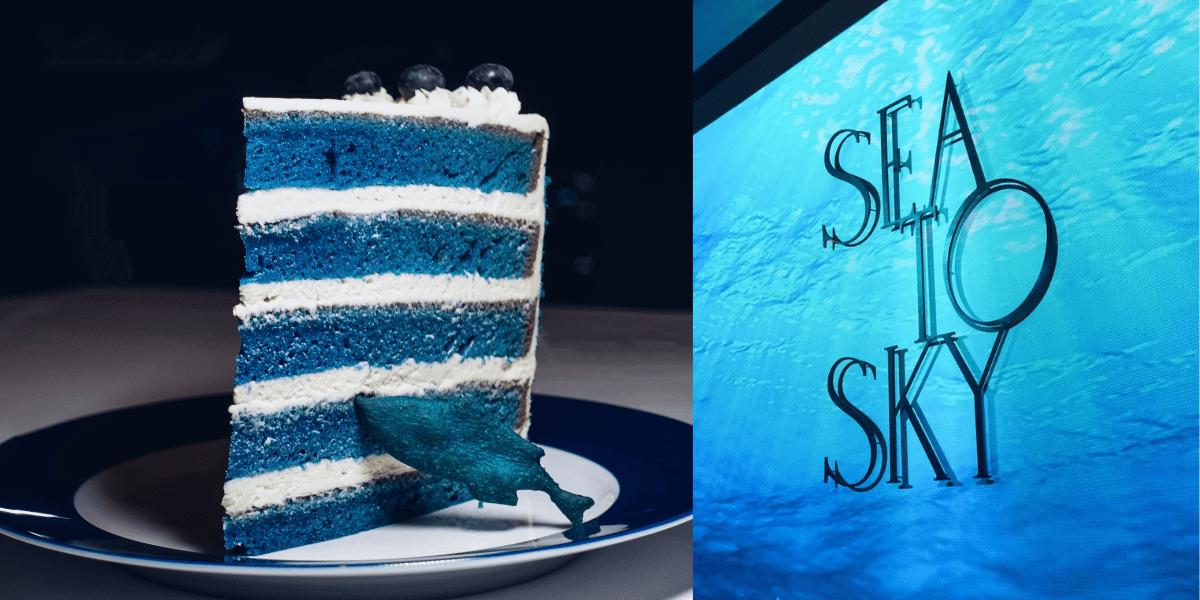 SEA TO SKY 台北 》 菜單除了點巨大藍絲絨蛋糕還能點哪些菜餚?  (非業配)