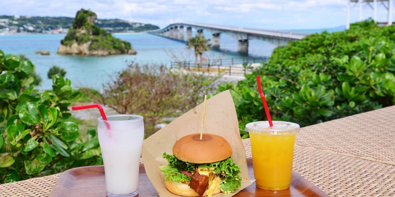 沖繩海景餐廳   CHURA TERRACE美麗露台(美らテラス). 看古宇利橋絕景最佳的角度,四間餐廳美食任你選