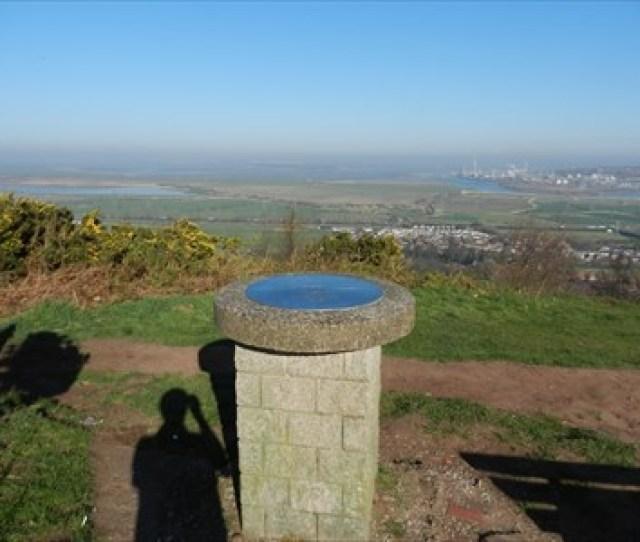 Mersey View Toposcope Overton Hill Frodsham Cheshire England Orientation Tables On Waymarking Com