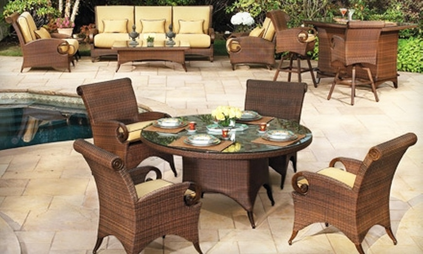 50 for 100 toward outdoor furniture and more at patio com valid at two locations