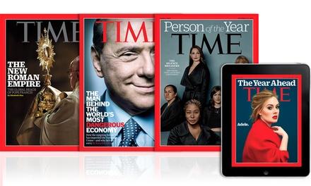 Abbonamento All Access di 6, 12 o 24 mesi a Time Magazine digitale e cartaceo con consegna a casa(sconto fino a 89%)