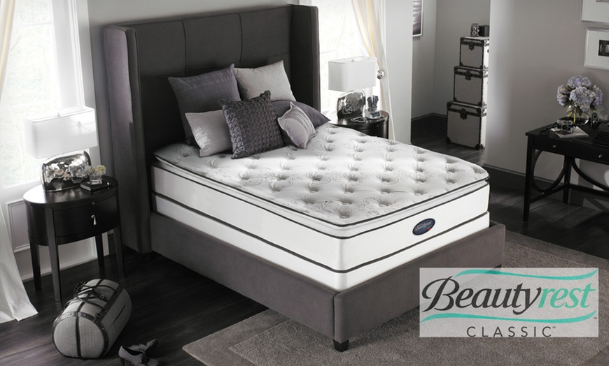 simmons beautyrest plush pillow top mattress set up to 69 off five sizes available free white glove delivery