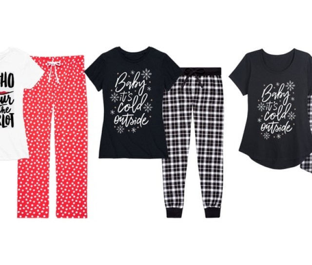 Womens Christmas Flannel And Cotton Pajamas Plus Sizes Available
