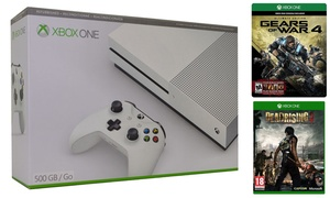 image for Xbox One S 500GB with Gears of War 4 and Dead Rising 3 (Mfr. Refurb.)