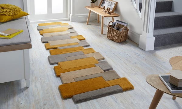 tapis flair rugs collage laine runner rug