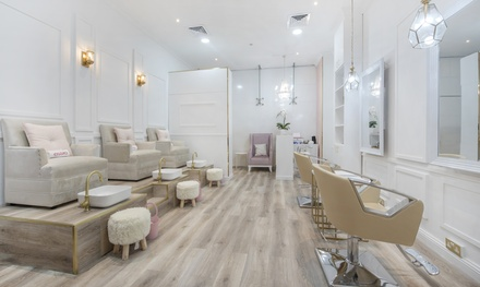 Eyelash Lift and Tint with Optional Manicure and Pedicure at File and Style Beauty Salon (Up to 66% Off)