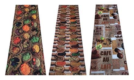 Passatoia per cucina con fondo antiscivolo disponibile in varie dimensioni e 3 fantasie