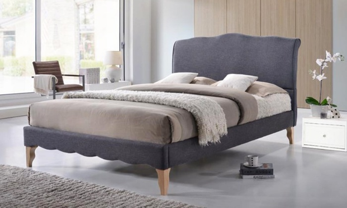 Up To 40 Off On Modern Fabric Platform Bed Groupon Goods