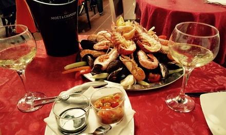 Bis di antipasti di mare, astice, gamberoni, crostacei, frutti di mare e bollicine al 155Viabrescia (sconto fino a 69%)