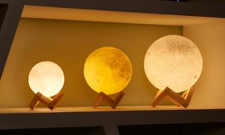 1 o 2 lampade LED Globrite a forma di luna 3D