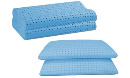 2 o 4 cuscini in Memory Foam Baldiflex forati disponibili nel modello saponetta o ortocervicale